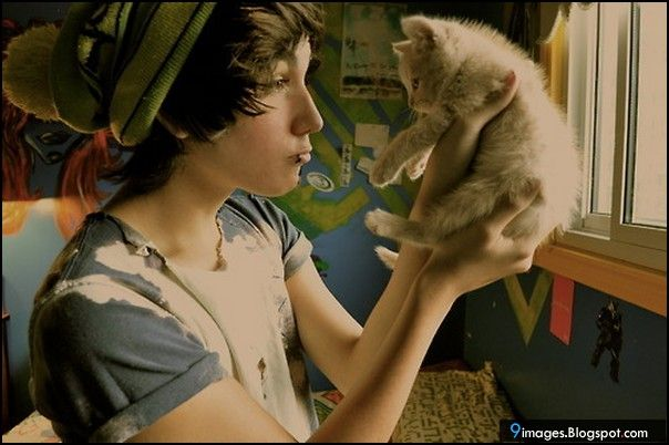 Cute Emo Boys Wallpapers | Abs Scene Boy Cat Cute Emo Inspiring Picture Favim Com