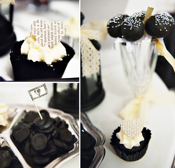 gothic wedding drinks | Vintage-Gothic Wedding Dessert Table // Hostess with the Mostess®