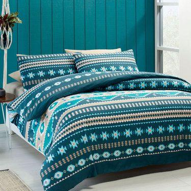 Brampton House Aztec Quilt Cover Set Queen Spotlight
