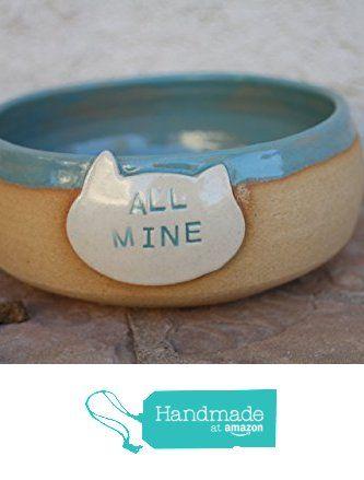 Cat Bowl, ceramic cat food dish, modern pet dish, cats, large food bowl from Manuela Marino Ceramic http://www.amazon.com/dp/B018F6KKIM/ref=hnd_sw_r_pi_dp_9OC1wb14TJ0WS #handmadeatamazon