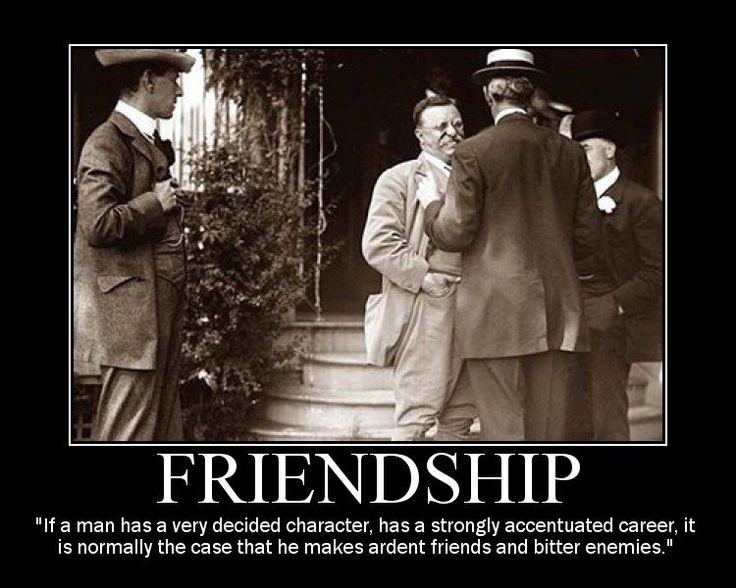 theodore roosevelt friends friendship quote motivational poster
