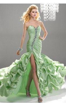 Elégante robe de bal Trompette à la mode Col en cœur Mini-traîne