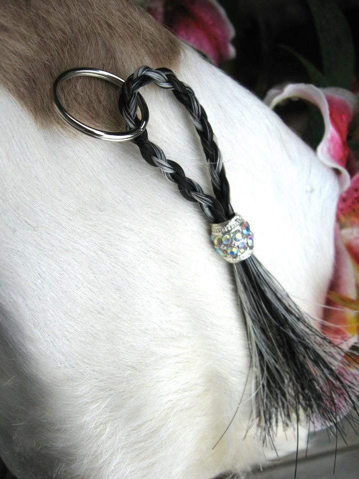 Keychain custom made from your own horse's hair. $15.