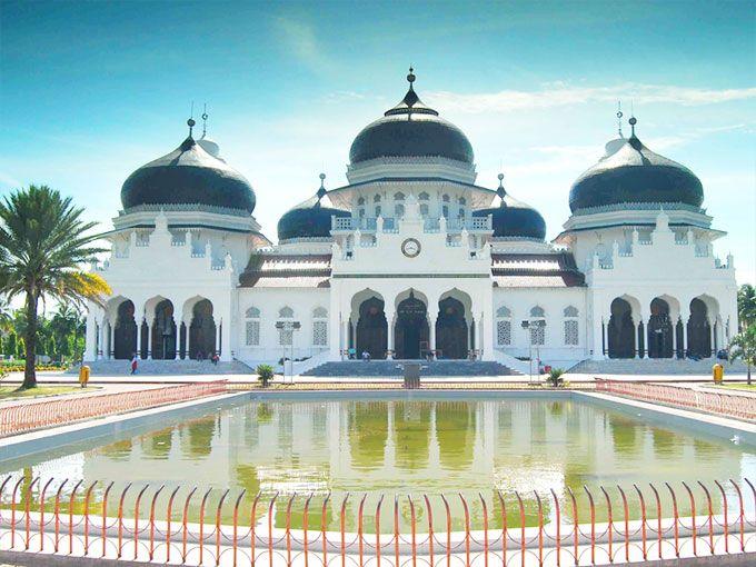Banda Aceh Grand Mosque or Baiturrahman Grand Mosque - Banda Aceh, Aceh province, Indonesia