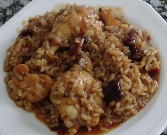 Receta casera de Arroz tostado con pollo #recetascaseras