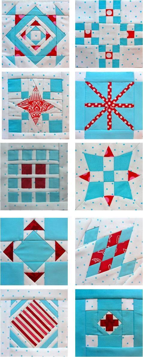 Modern Dear Jane quilt blocks, work in progress by Kelly Biscopink at Stitchy Quilt Stuff