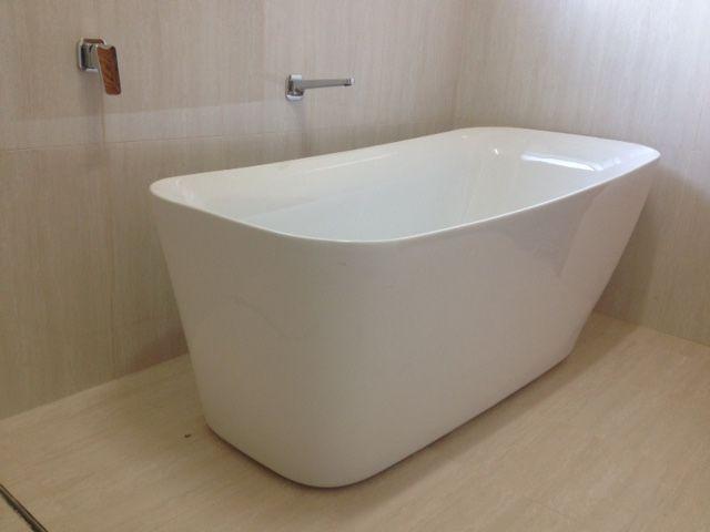 Walls: Marmi Silk Gloss rectified edge wall tiles  #760116 size: 600x300mm. Floor: Marmi Silk Matt rectified edge floor tiles  #760117 size: 300 x 300mm