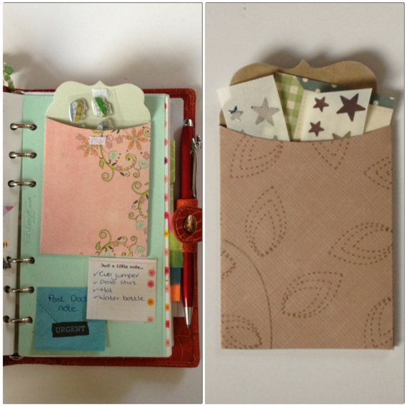 Lovingly Hand-Crafted Pocket for Filofax/Organiser on Etsy, 1,79€