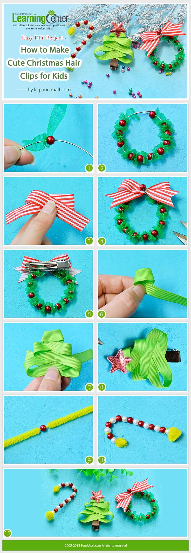 how to make hair clips and bows