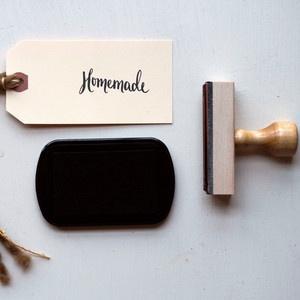 Homemade Original Calligraphy Stamp from Yours is the Earth