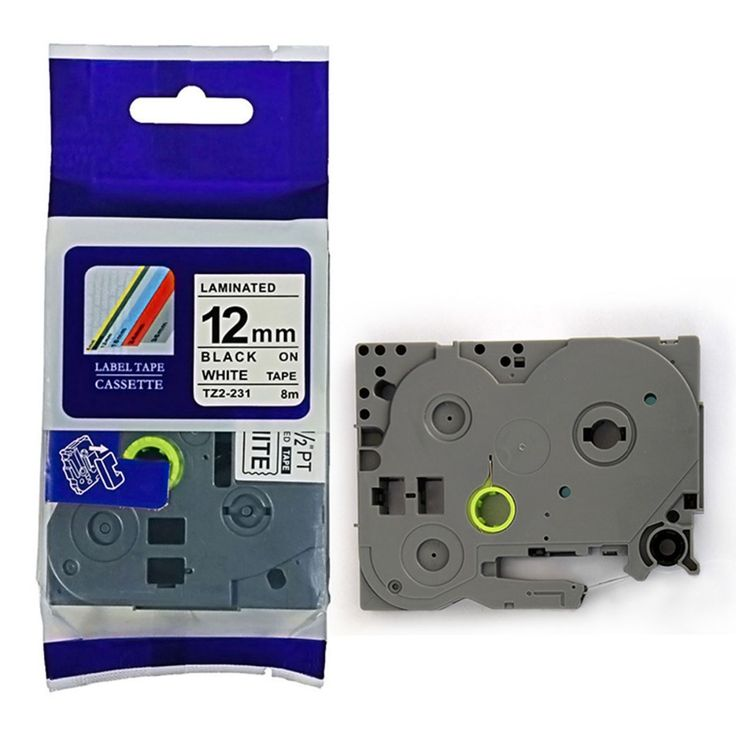 3 Pack Black PRINT on White Label Tape P-Touch Compatible for Brother TZ 231 TZe P-Touch 12mm maker