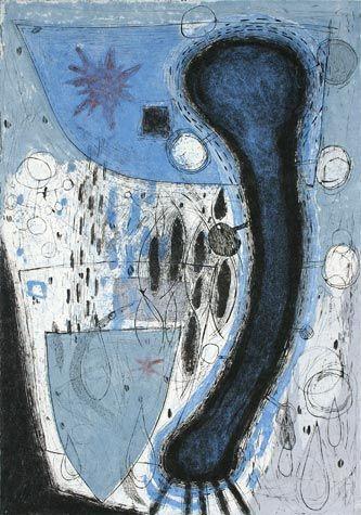 Akiko Taniguchi. The Origin of life 3, 1999. Collagraph. Edition of 5. 30-7/8 x 21-3/4 inches.