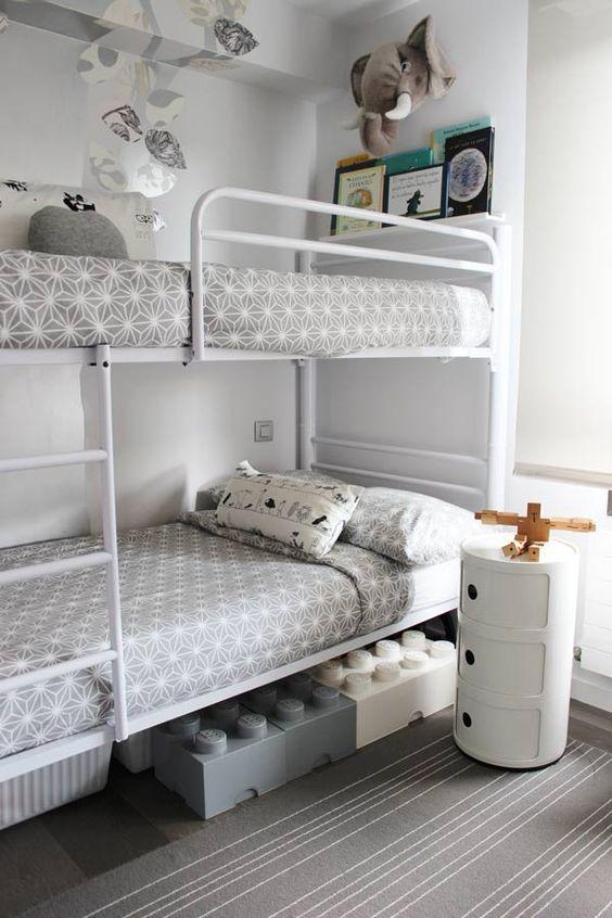 C mo amueblar una habitaci n infantil compartida for Habitaciones con literas