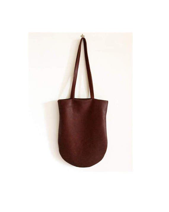 borsa tote in pelle marrone regali per lei borsa di BBagdesign