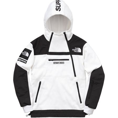 Supreme®/The North Face® Steep Tech Hooded Sweatshirt (White)