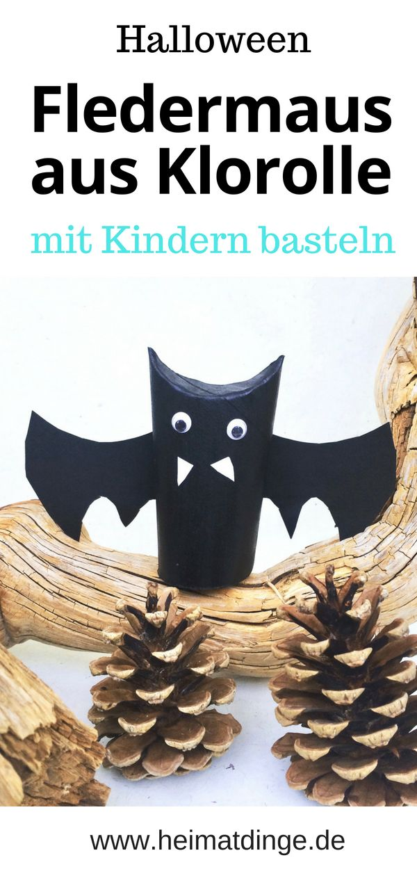 "Fledermaus basteln: Flattermann ""Kurt"" als Halloween Party Held –"