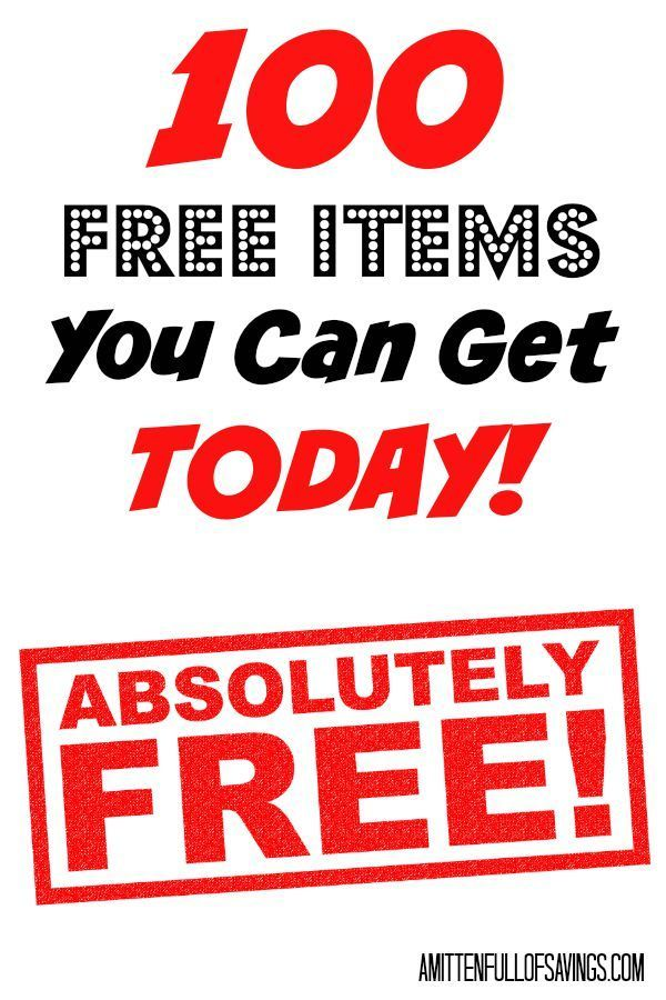 100 Free Items You Can Get Today We love getting stuff for free, and these 100 Free Items You Can Get Today are just the beginning. Some of these items even break down into more when you look at individual things. This list is a great resource to help you stretch your budget farther. Click through now!! A Mitten Full of Savings