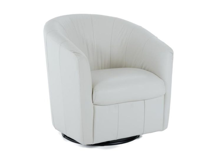 Natuzzi Contemporary Barrel Swivel Chair By Natuzzi
