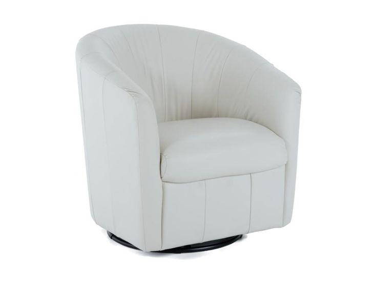 Natuzzi Editions Natuzzi Contemporary Barrel Swivel Chair - Baer's Furniture - Upholstered Chairs