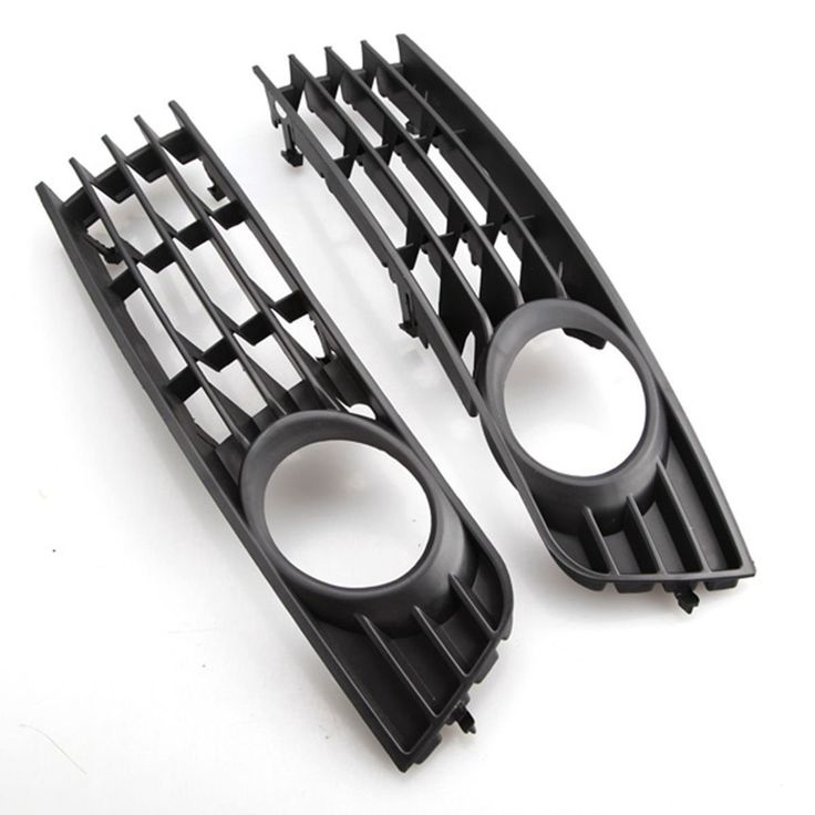 Pair Left Right Front Lower Fog Light Grills Grille For