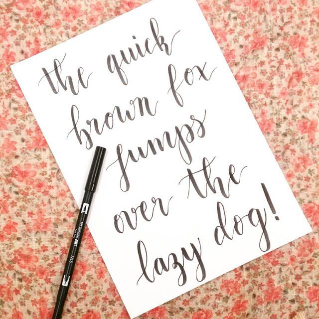 Brushpen calligraphy / The quick brown fox jumps over the lazy dog @nocaminhodasletras