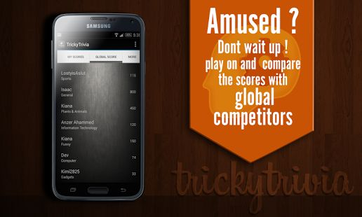 Tricky Trivia include hundreds of fun and challenging questions! Train your brain and amuse your friends for hours with TrickyTrivia - GK Quiz 2015 ! Download it Today! Get knowledge from fun! Enjoy thousands of GK Quiz Questions and answers on the go !https://play.google.com/store/apps/details?id=com.pidigi.trickytrivia#Trivia #Learningapp #iOSapp