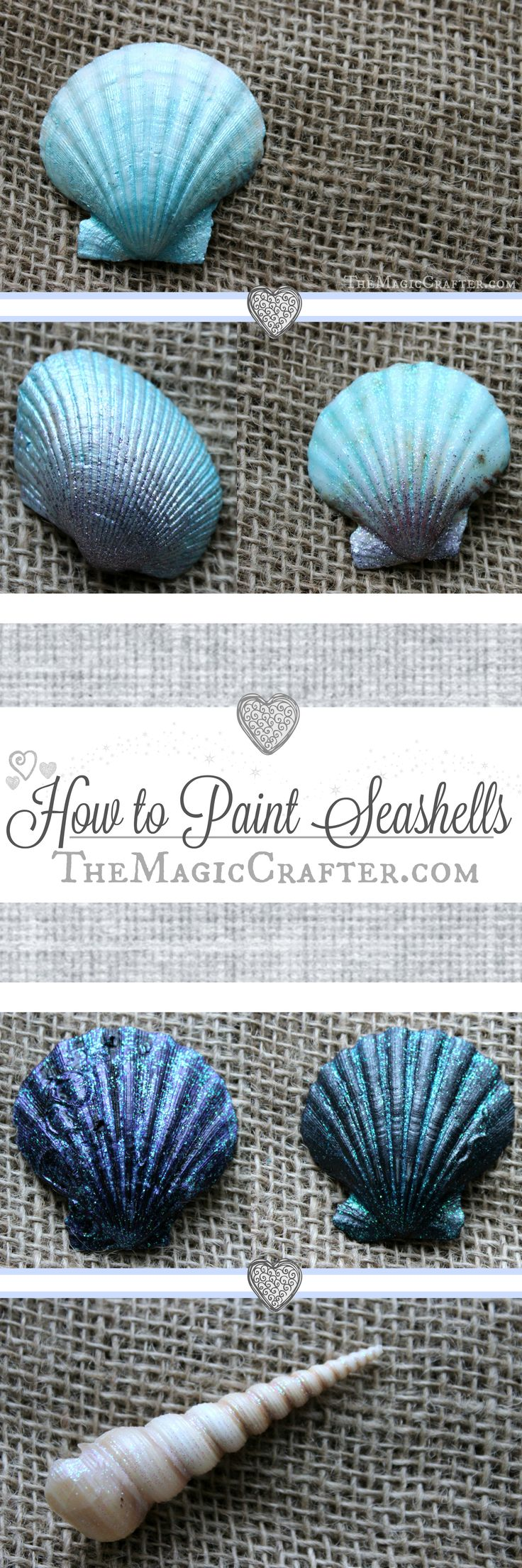 How to Paint Seashells ♥ DIY Summer Mermaid Beach Crafts ♥ Quick & Easy Video Tutorial ♥ #seashells #mermaids #SummerCrafts