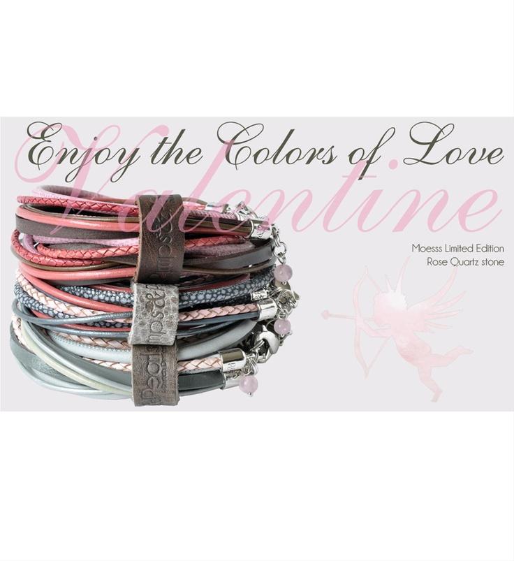 Pimps & Pearls leren Armband Moesss Valentine Limited edition - NummerZestien.eu