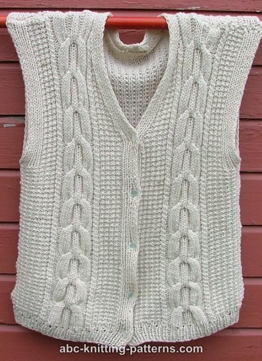 Knitted Vests Free Patterns : 89 best images about Knitted Vests on Pinterest Vests, Free pattern and Kni...