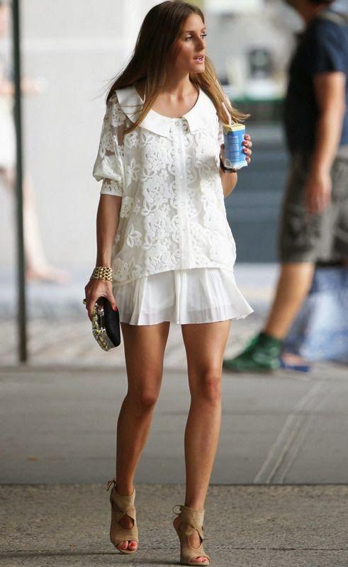 Olivia Palermo Total white outfit summer Look branco verão