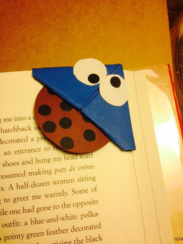 cookie monster bookmark   Handmade Origami Bookmarks ...