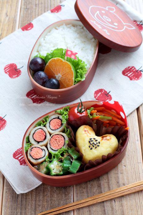 園弁★ハートのスイートポテト弁当~女の子のお弁当~の画像   毎日がお弁当日和♪