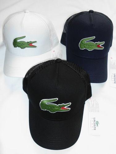 2013 MENS LACOSTE BIG CROC LOGO TRUCKER CAP HAT  ad1f90baf22