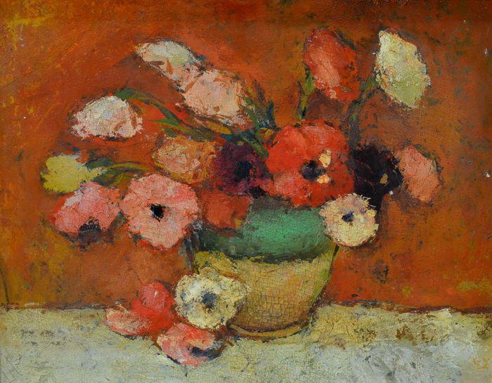 Stefan Luchian - Poppies (oil on cardboard)