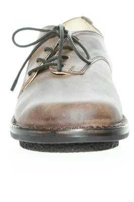 DIPPY shoe in smooth cowhide leather with aged effect coloring - TRIPPEN