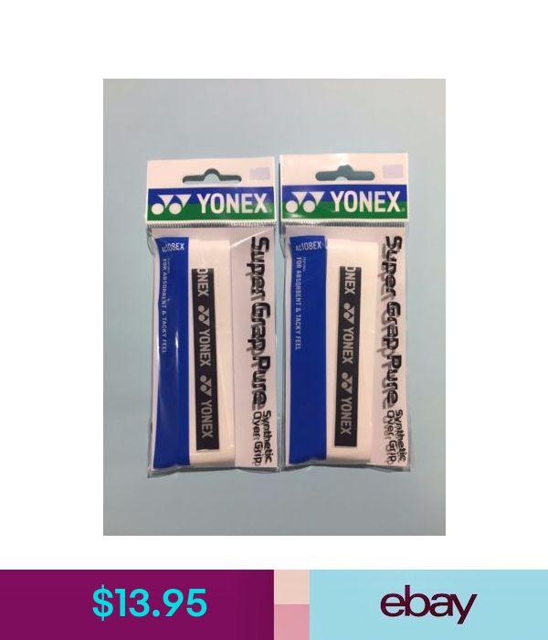 4 x WHITE YONEX SUPER GRAP PURE PREMIUM GRIP AC108EX BADMINTON SQUASH TENNIS