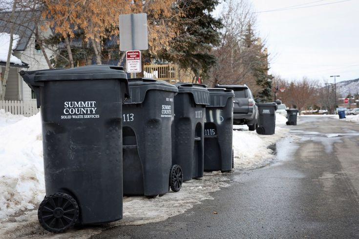 Trash cans line a street in Old Town on Thursday. This week, Republic Services sent nearly 20,000 invoices for garbage collection county-wide, a service previously subsidized through the countys general fund.