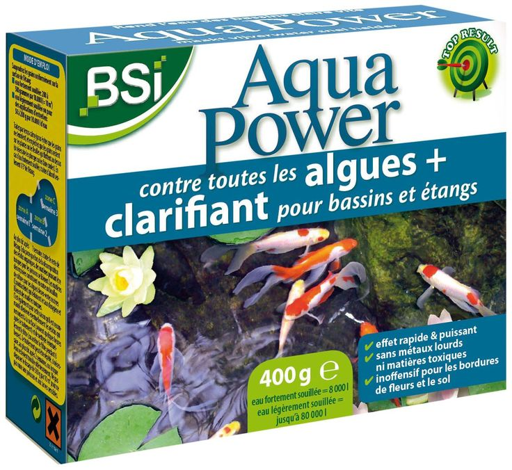 BSI 16990 Aqua Power 400 g anti-algue/Clear Pond for Ponds/