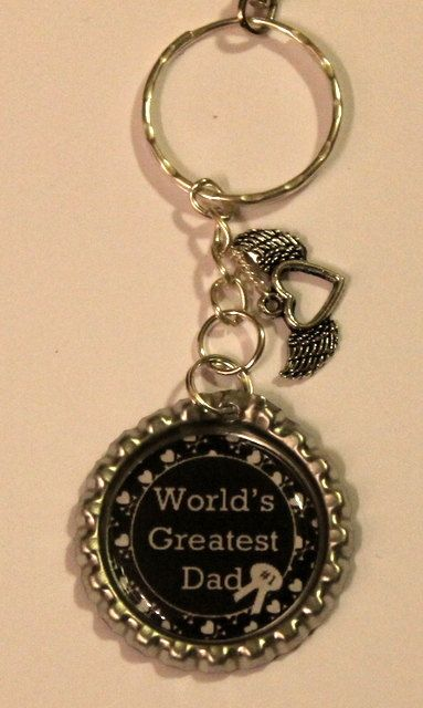 Fathers Day Gift Worlds Greatest Dad  key by bitsybowsandthings, $12.00