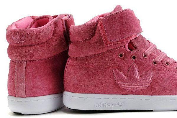 zapatillas adidas mujer stan smith trefoil high tops suede peach -Zapatos Adidas Baratos