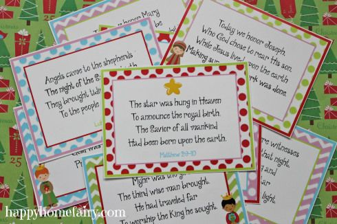 12 Days of Christmas FREE printables (these are for the 12 days leading up to Christmas. They are cards that tell the story of the nativity over the course of 12 days - not related to the song)