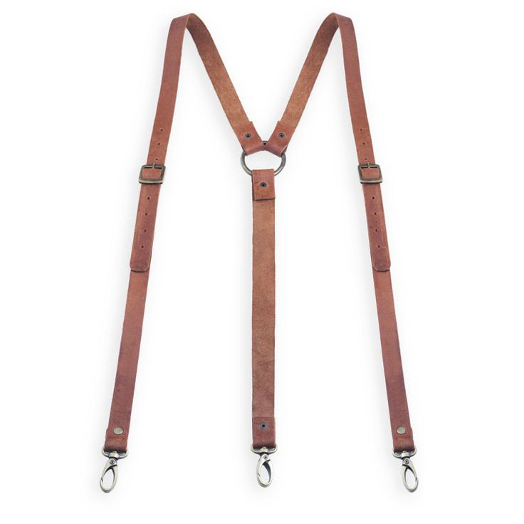 Genuine leather suspenders. Handmade by Eden&Co quality leather goods. www.edenleatherco.com
