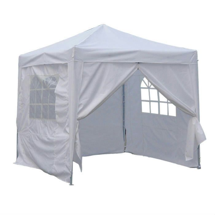 8x8 EZ Pop Up Party Wedding Tent Canopy Gazebo Silver 100 Waterproof