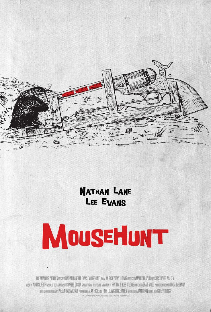 Poster for MouseHunt by Scott Saslow. #mousehunt #goreverbinski #nathanlane #leeevans #christopherwalken #vickilewis #williamhickey #maurychaykin #michaeljeter #ericchristmas #erniesabella #90s #comedy #mouse #exterminator #oldhouse #adamrifkin #alansilvestri #phedonpapamichael #dreamworks #movieposter #graphicdesign #posterdesign #fanart #alternativefilmposter #alternativemovieposter #photoshop