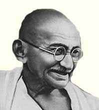 Мохандас Карамчанд Ганди — индийский общественно-политический деятель, один из лидеров национально-освободительного движения, идеолог гандизма. Прозван в народе Махатмой («Великой душой») - http://to-name.ru/biography/mohandas-gandi.htm
