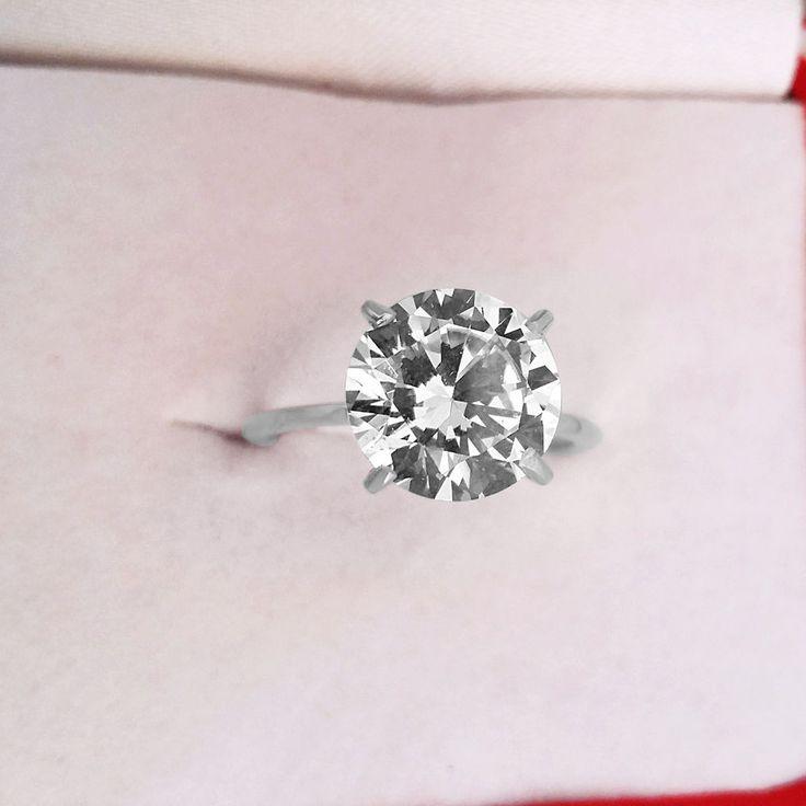 2.00 Ct Round Cut Diamond Engagement Ring 14K White Gold Diamond Solitaire Ring  #CaratForever