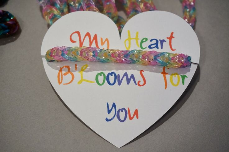Rainbow Loom Bracelet School Valentines With Printables