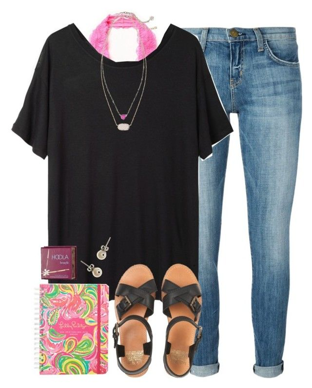 """""""ootd - first day of school"""" by okieprep ❤ liked on Polyvore featuring Current/Elliott, Free People, Base Range, Kendra Scott, Jack Wills, J.Crew and Benefit"""