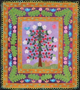 """""""Springtime"""" by Mary-Margaret Morton of Ann Arbor, MI, USA. Second place in the 'Miniature Quilts' category in the AQS Paducah show in 2012."""