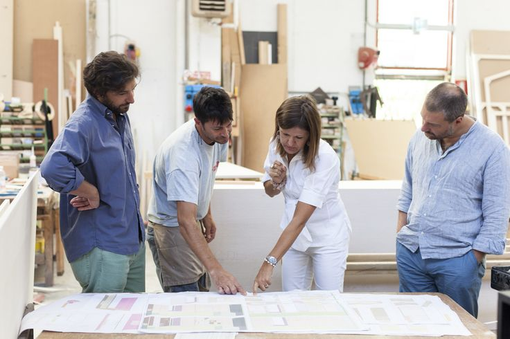 [ #makingof NYC loft] #Ermesponti team at work (w/ Design-Apart founder Diego Paccagnella)from left Diego, Giuseppe, Daniela, Enrico.
